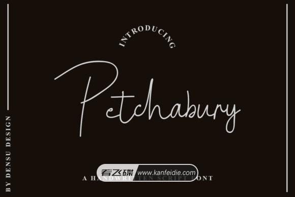 Petchabury 超细的时尚连笔手写字体下载