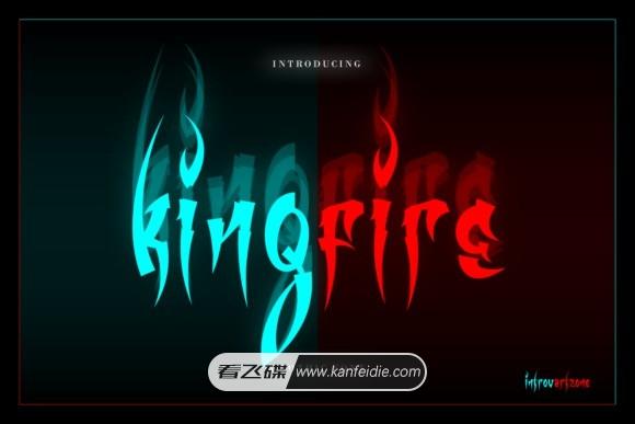 Kingfire 万圣节鬼屋恐怖风格的炫酷英文字体下载