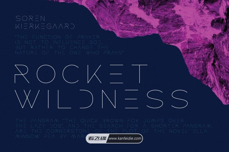 纤细线条的极简大气英文艺术字体下载 Rocket Wildness Font