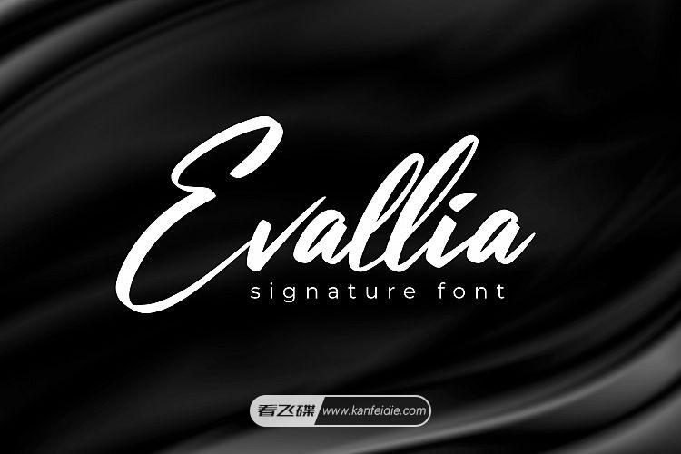 现代连笔手写艺术签名英文粗体字体下载 Evallia Script Font