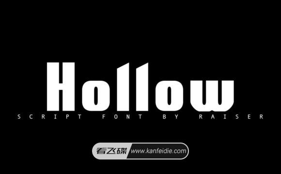 简约无衬线粗黑英文标题字体下载 Hollow Font