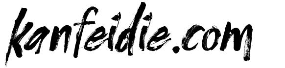 粗糙笔刷手写效果的英文毛笔字体下载 Cozybrush Font