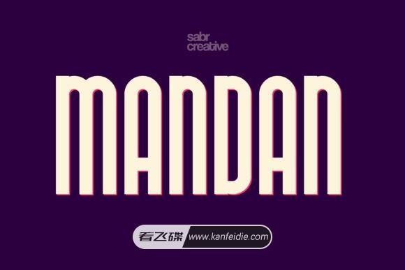简约时尚的竖长等线英文字体免费下载 Mandan font