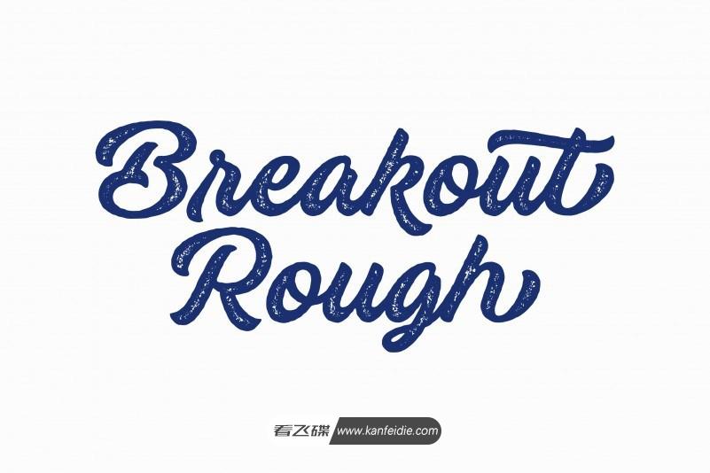 Breakout 粗体英文连笔手写书法字体下载