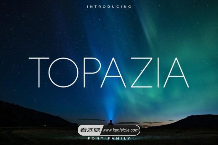 极细线条的无衬线英文字体下载 Topazia Font