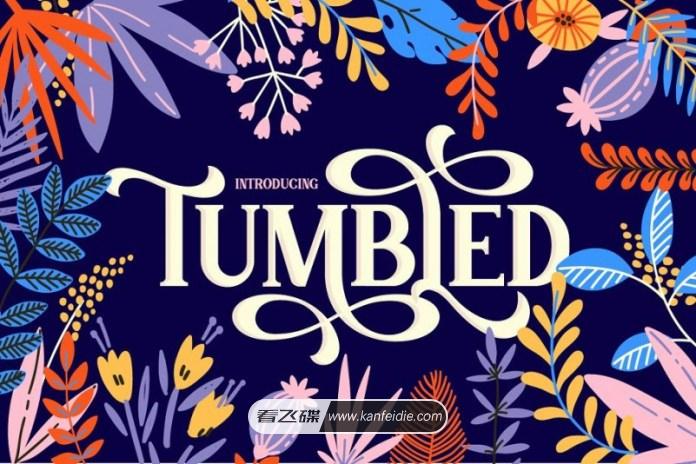 优美的花体英文衬线字体下载 Tumbled Font