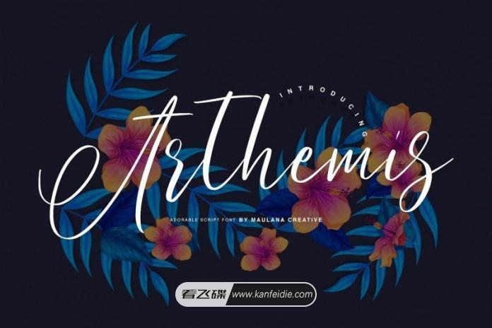好看的连笔英文花体字Arthemis下载 适合生日或母亲节做装饰