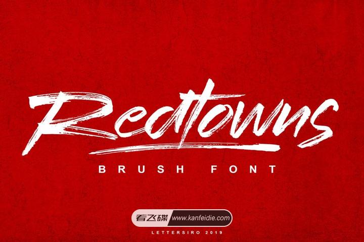 Redtowns 英文画笔字体免费下载