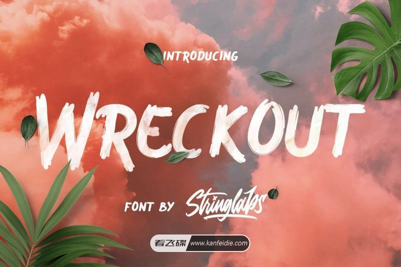 Wreckout 英文毛笔手写字体