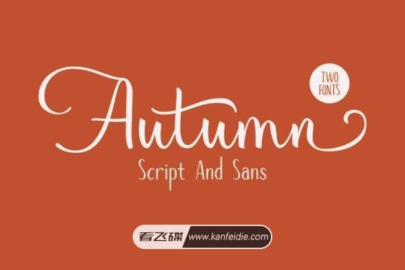 浪漫的手写英文字体 婚礼邀请函专用 Autumn Mood 下载