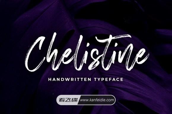 Chelistine 英文手写笔刷字体下载