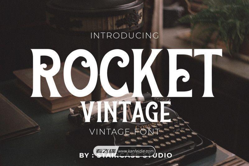 艺术复古英文字体 Rocket Vintage下载