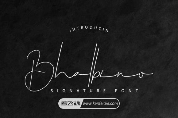 Bhalbino 超细英文手写艺术签名字体下载