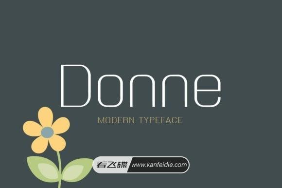 Donne 现代浪漫的简约英文字体下载
