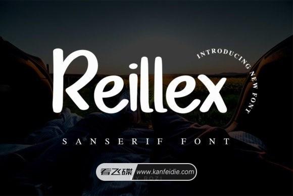 卡通圆润的手写休闲英文画笔字体 Reillex下载