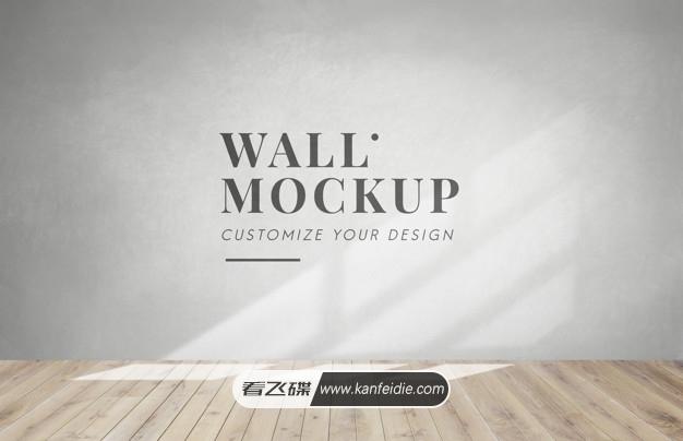 室内木地板灰色墙壁背景图片素材 PSD机板模板下载