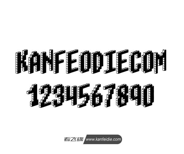 俄罗斯方块效果的3D英文字体下载