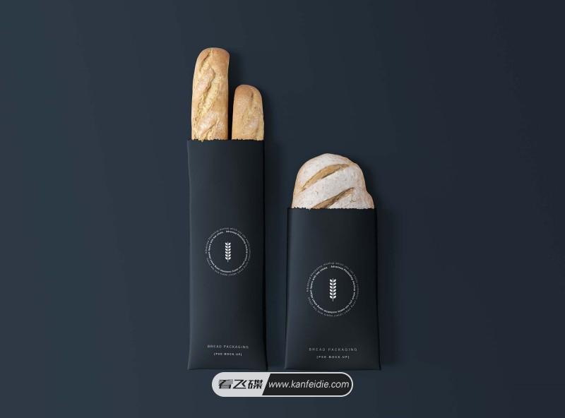 面包包装纸袋样机素材下载(PSD)