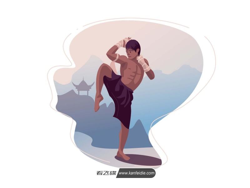 泰拳选手矢量插画下载(AI)