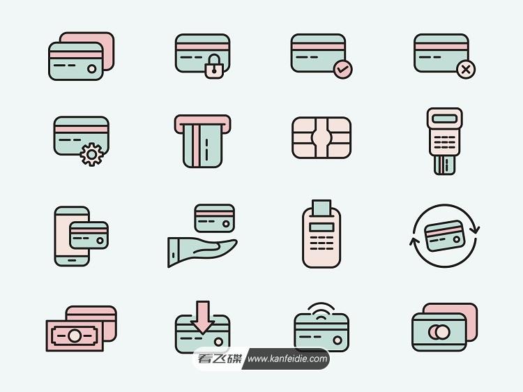 信用卡矢量图标素材下载(Ai)