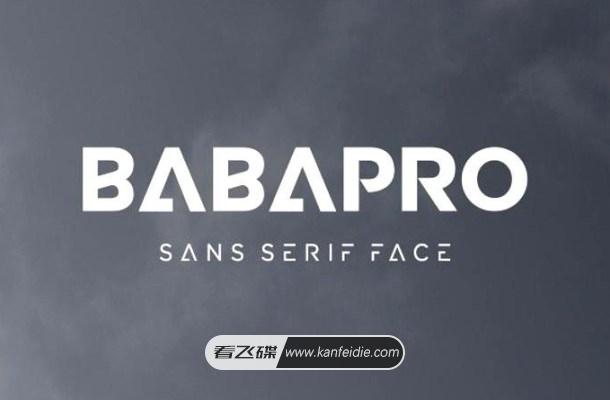 未来感十足的无衬线英文字体下载 Baba Pro