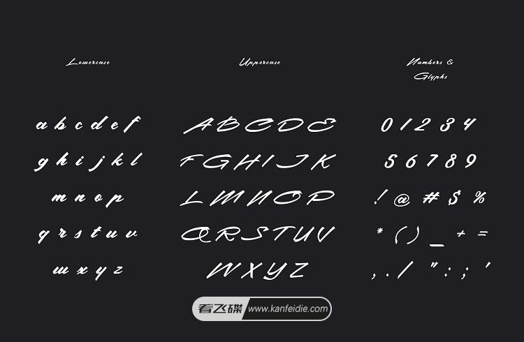 手写英文书法字体 Christopher