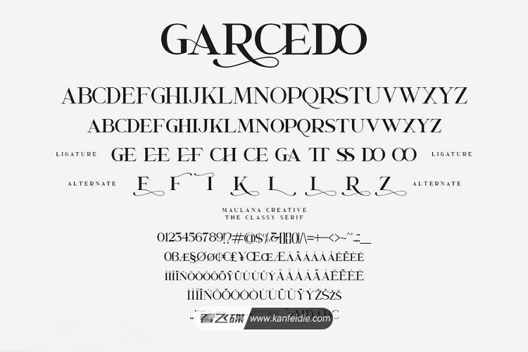 维多利亚时期经典英文艺术字体 Garcedo下载