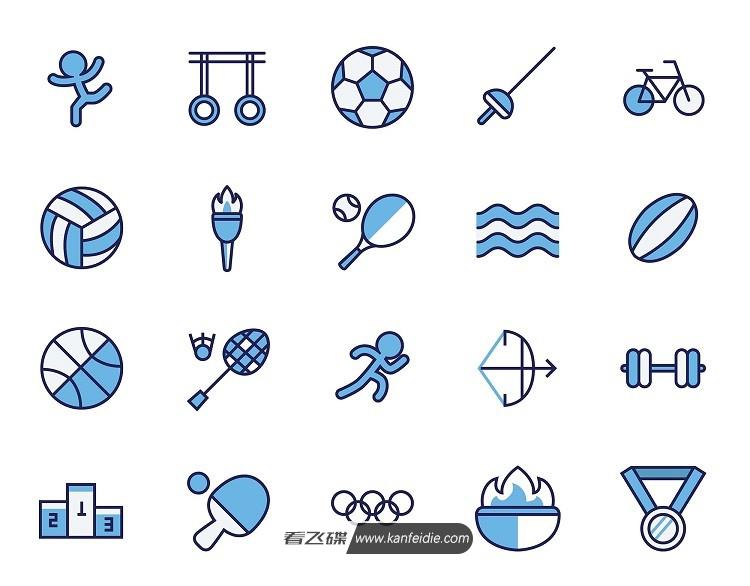 奥林匹克运动项目图标素材打包下载