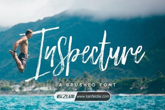 细毛笔手写书法英文字体 Inspecture免费下载