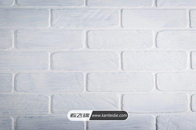 白色石砖背景墙照片素材免费下载