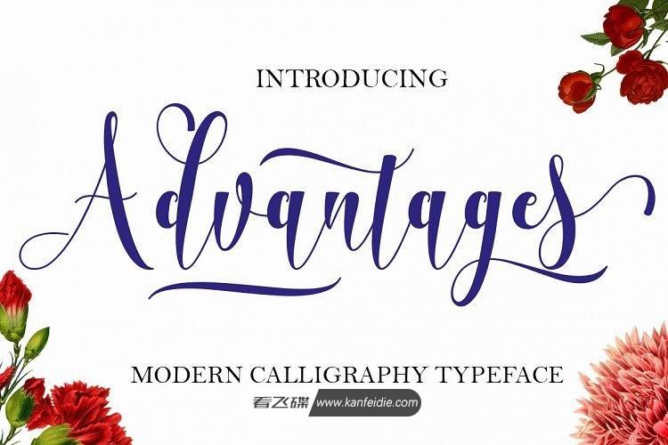 彩带般的英文书法花体字免费下载 calligraphy typeface