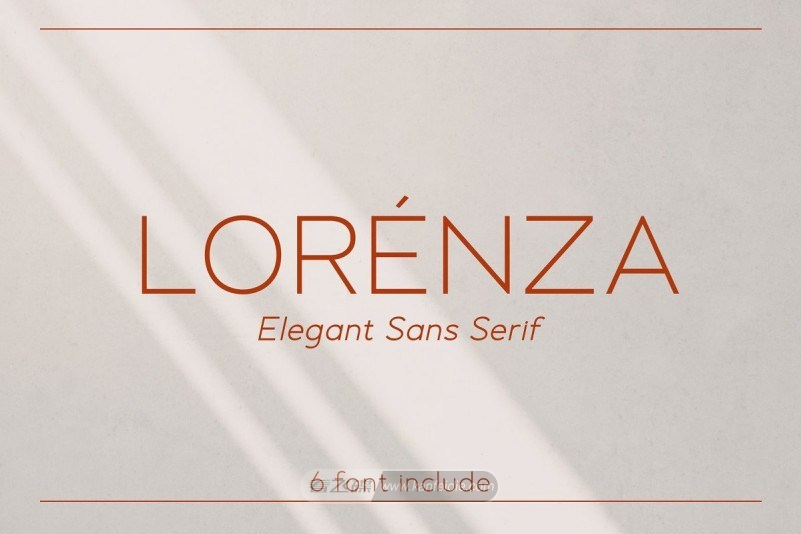 Lorenza好看的极细英文艺术字体下载