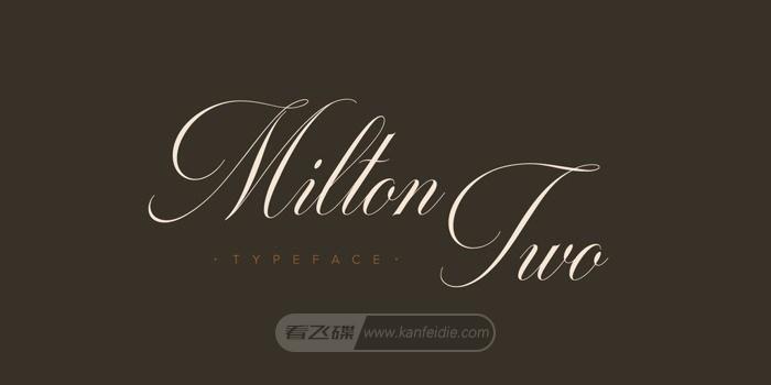 Milton Two纤细漂亮的花式英文字体下载