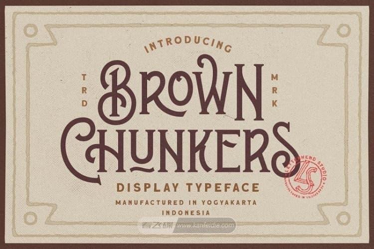 Brown Chunkers复古的带衬线英文字体下载