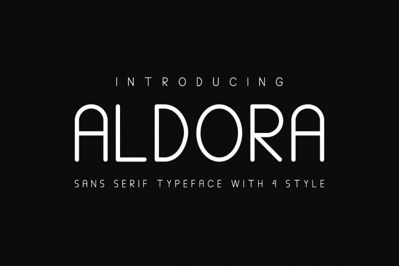 Aldora Futuristic瘦高的英文字体下载