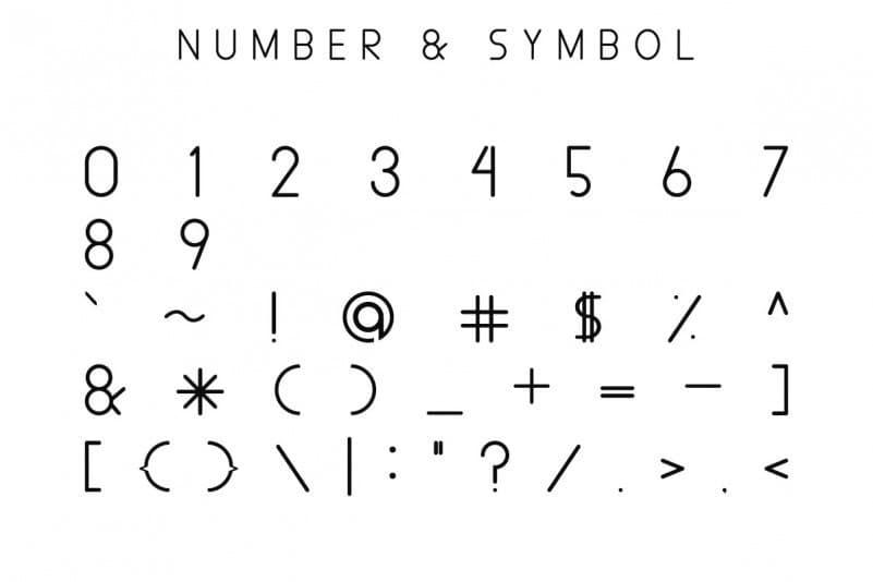 Aldora Futuristic瘦高的英文字体