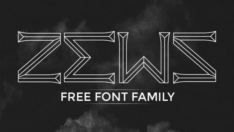 Zews立体线条的特色英文字体