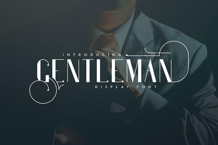 Gentleman一边粗一边细的英文字体下载