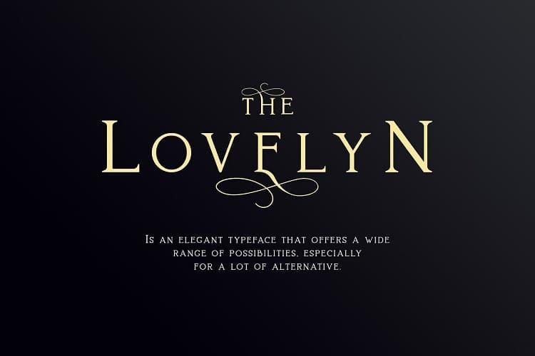 Lovelyn好看的英文衬线字体下载