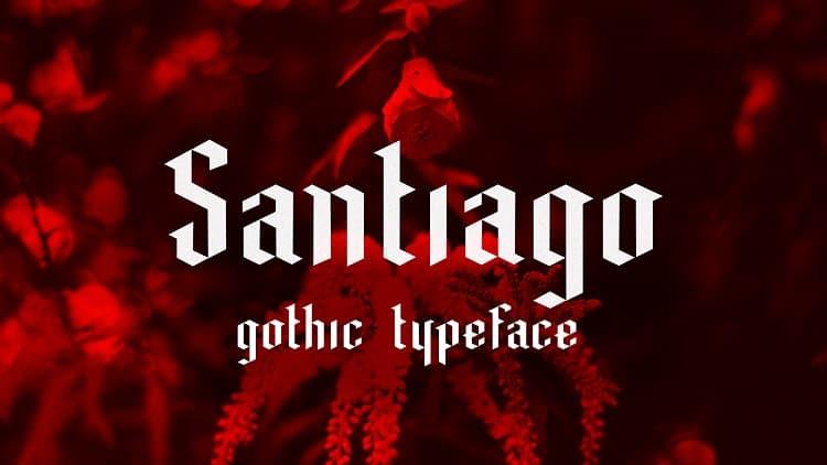 Santiago暗黑风的哥特式英文字体下载