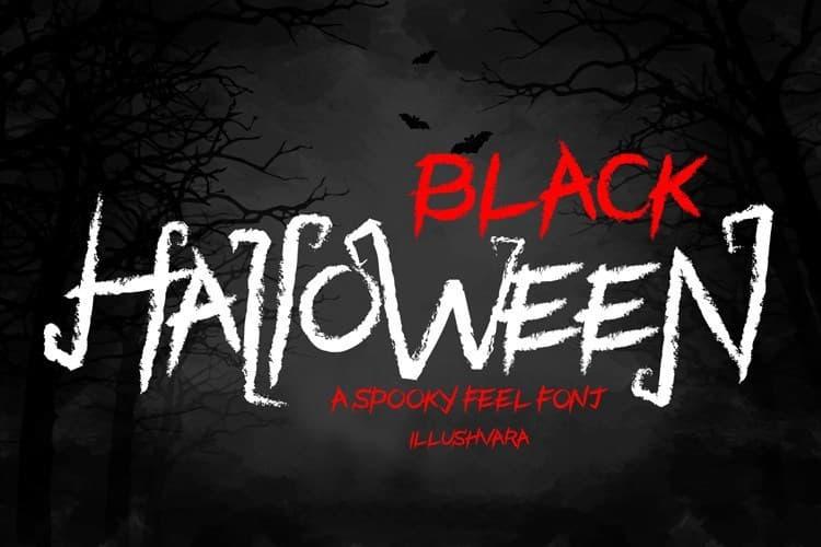 Black Halloween恐怖暗黑的万圣节英文字体