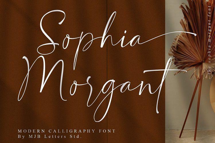 Sophia Morgant常用的手写英文字体下载