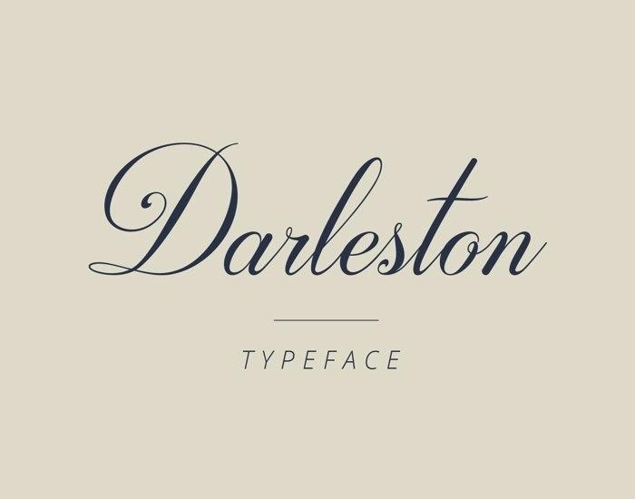 Darleston好看的连体手写英文圆体字体