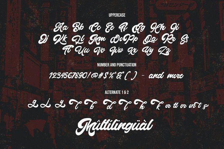 Montages复古粗体手写英文字体