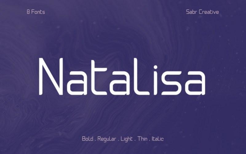 Natalisa未来派的个性等宽英文字体