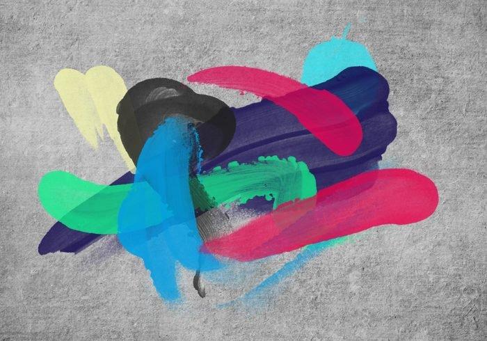 油漆手指画效果 PS笔刷预设打包免费下载