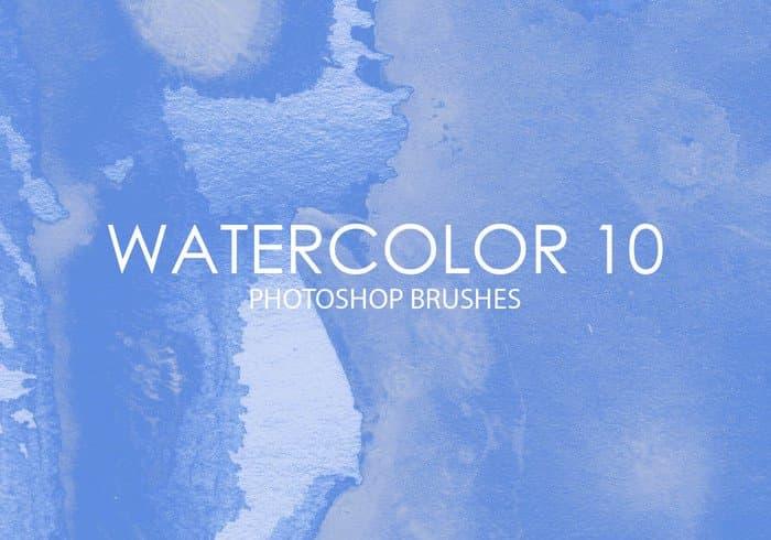 高品质水彩画PS笔刷免费打包下载