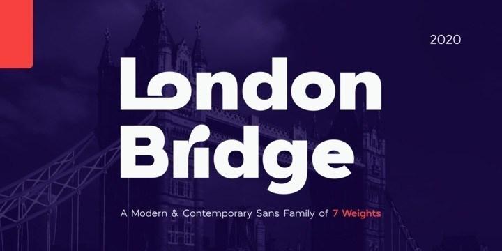London Bridge几何感粗体艺术英文字体下载
