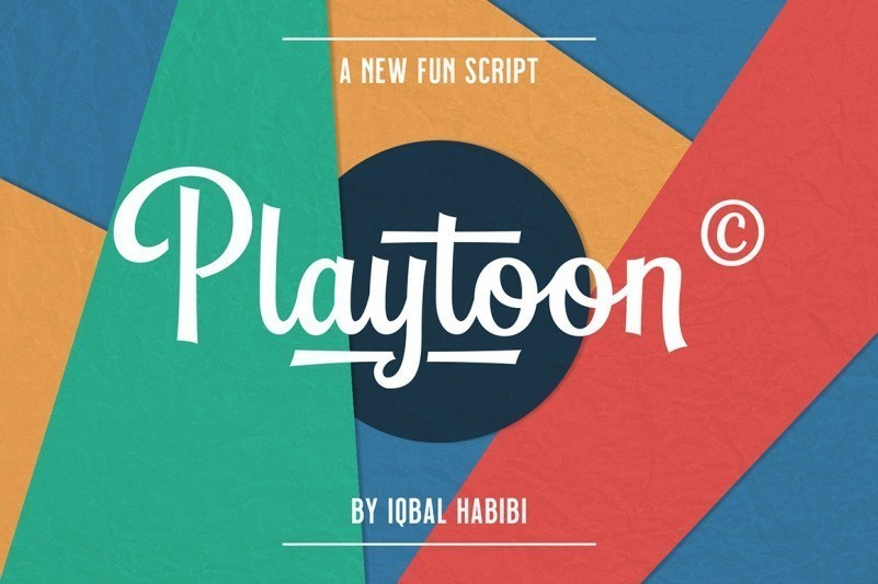 Playtoon广告设计ps连体英文字体下载