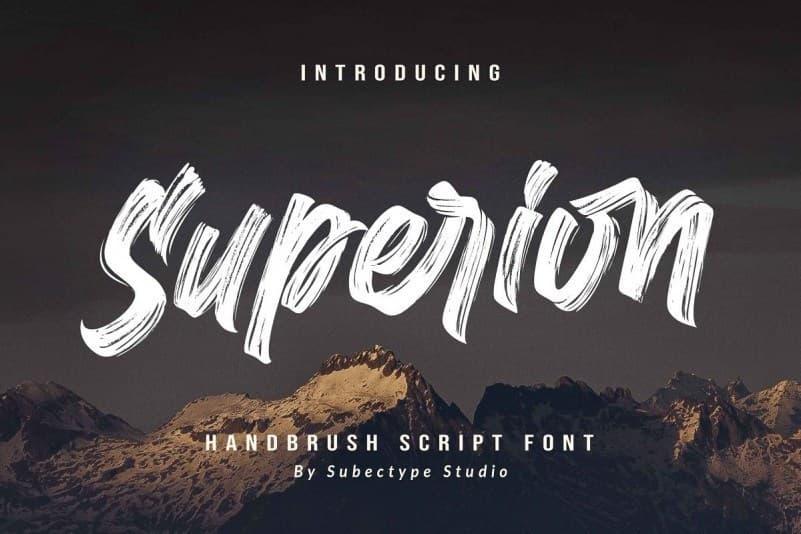Superion水墨毛笔风格PS英文字体下载